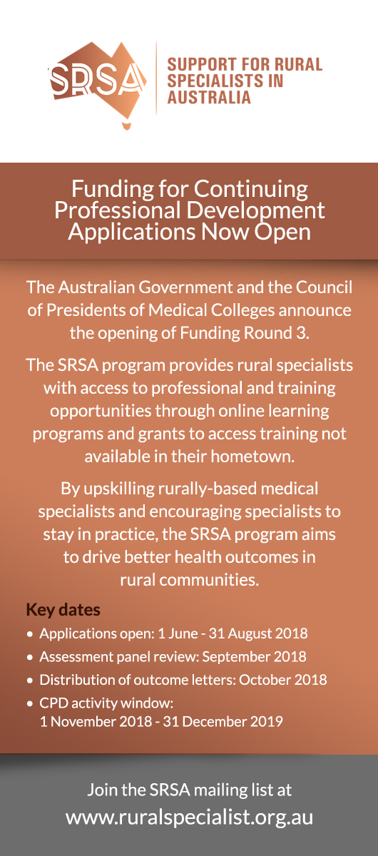 Support for Rural Specialists in Australia Ad