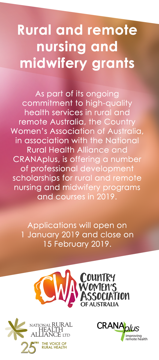 Rural and remote nursing and midwifery grants