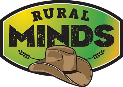 Rural minds logo with Acubra hat logo