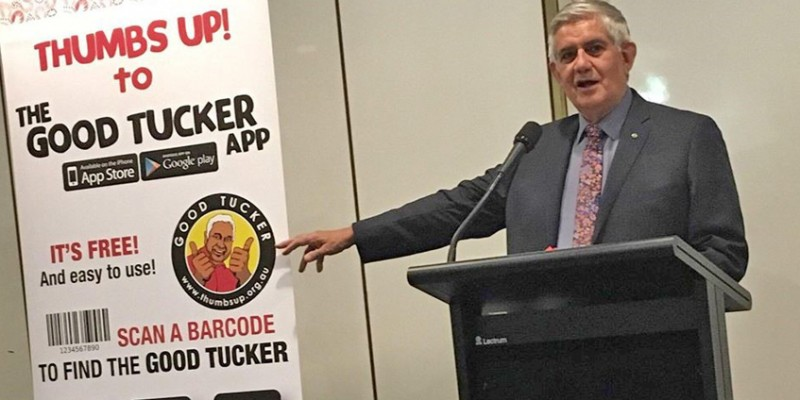 Minister Ken Wyatt launching the Good Tucker app