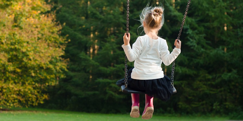Girl on swing