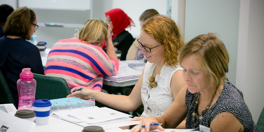Sophie Robertson conducting farmer health and lifestyle assessments for the National Centre for Farmer Health