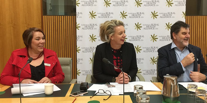 Minister for Regional Services, Senator Bridget McKenzie meets with Alliance Chair, Tanya Lehmann, and CEO, Mark Diamond. Photo NRHA