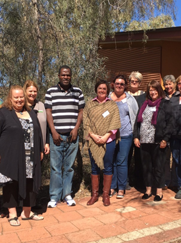 Pilot program facilitators and participants, Alice Springs, July 2016