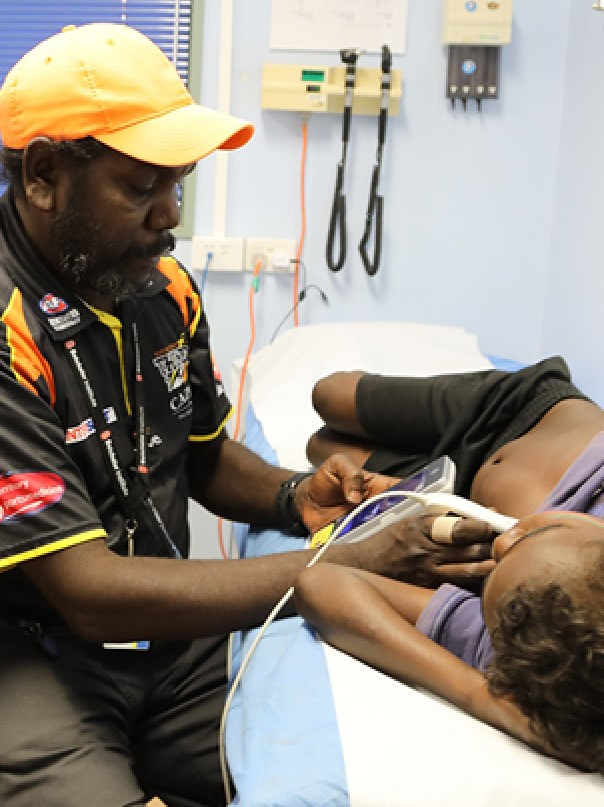 Dr Josh Francis, Shannon Brown and Trey Brown in Maningrida