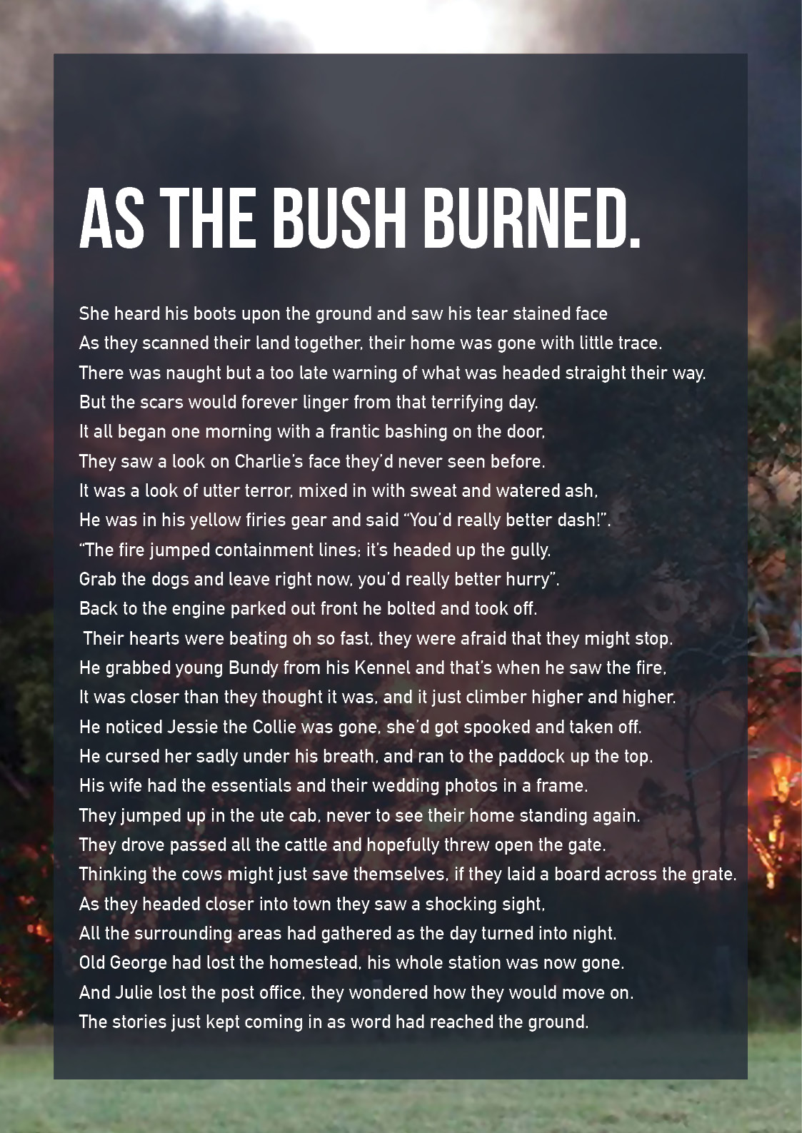 Alexandra Stewart - As the bush Burned - page 1