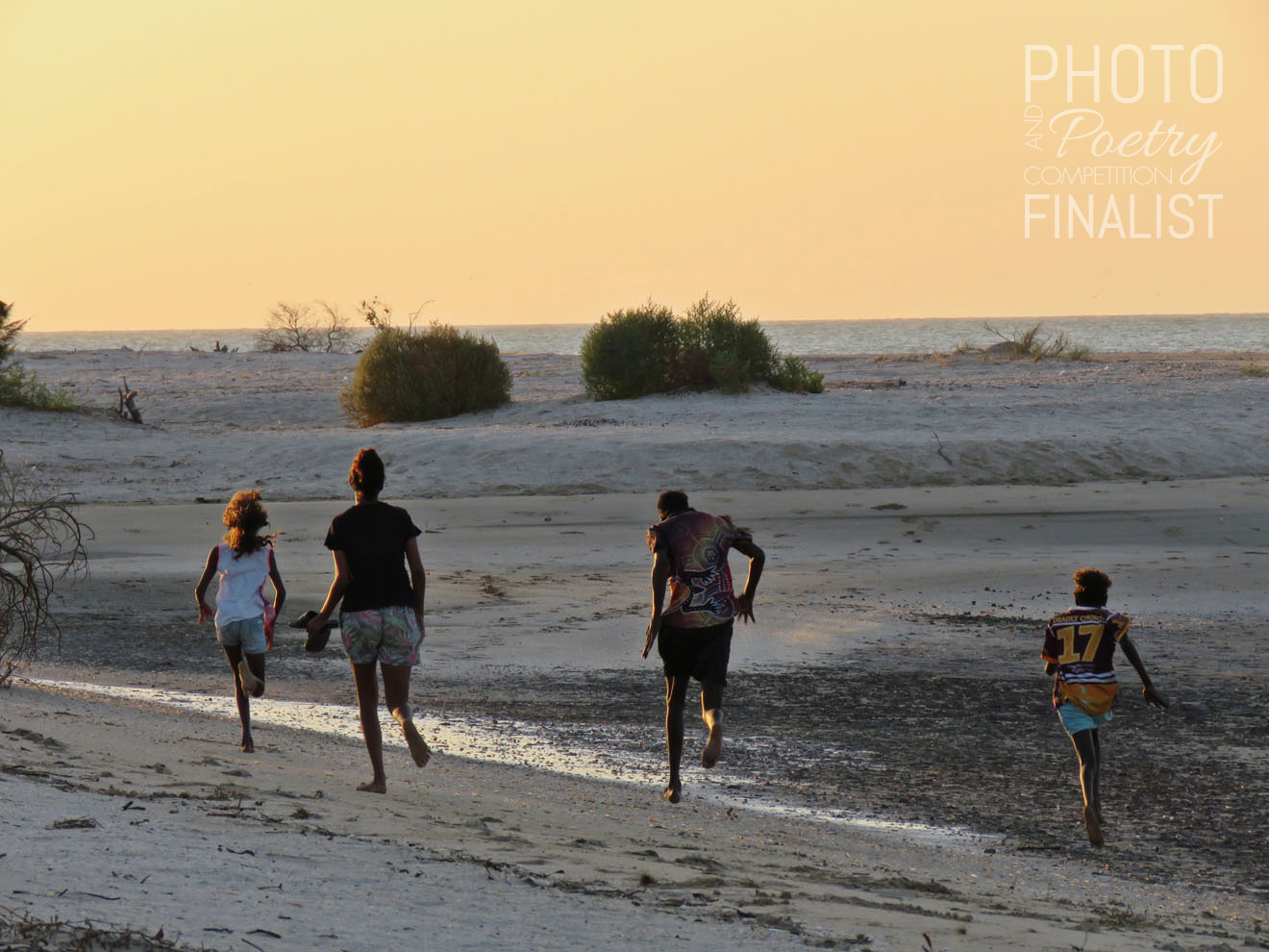 Freedom - Given a chance to get out onto their country and feel the sand in their toes—these community kids went for it, running and whooping with joy! LARA WIELAND, Tarzali, QLD