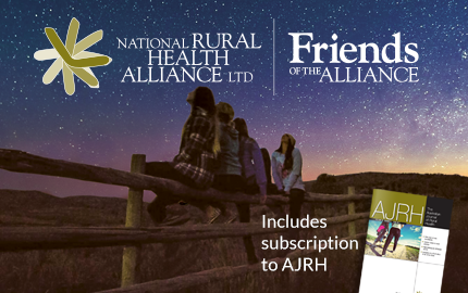 The National Rural Health Alliance Friends of the Alliance logos