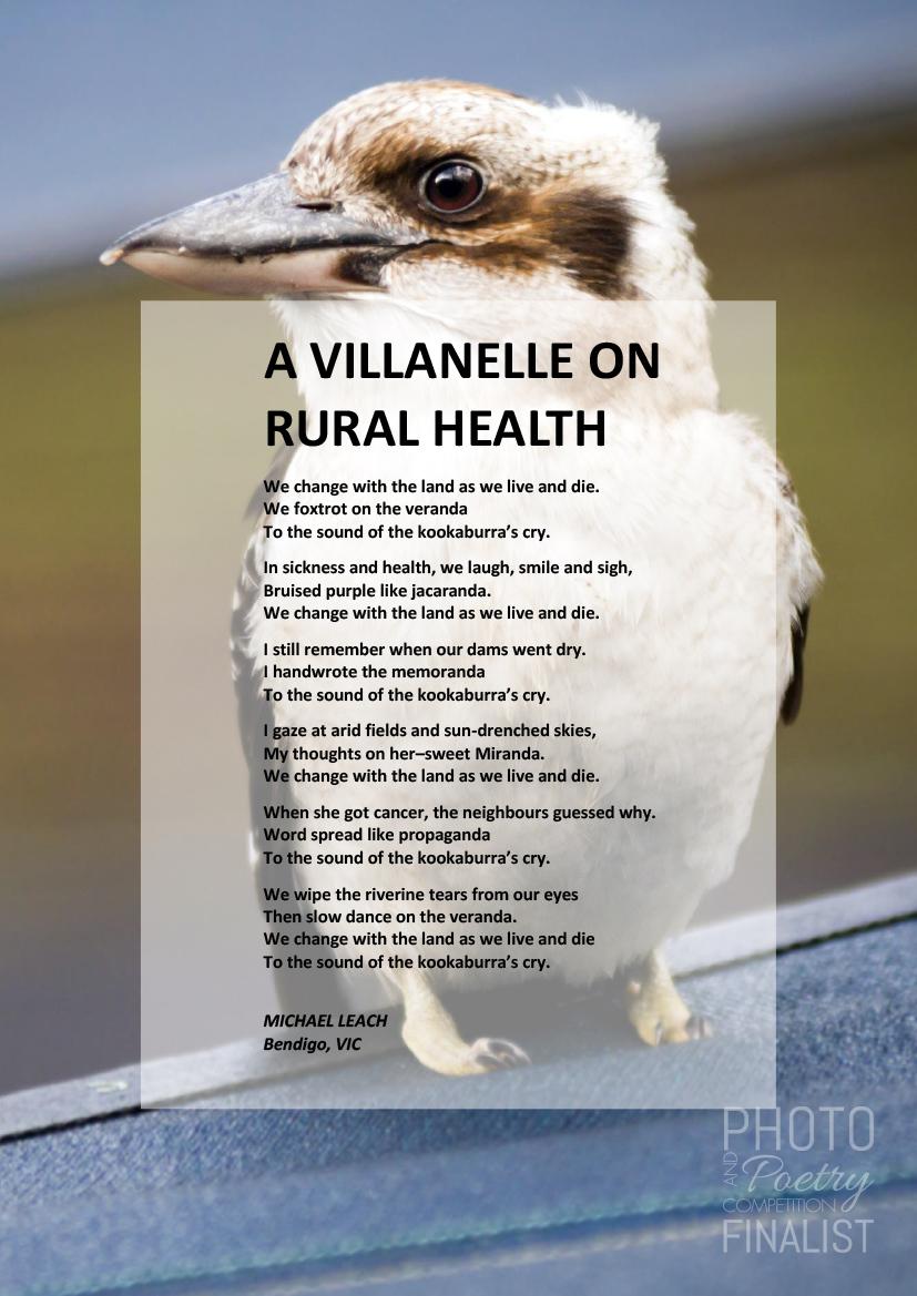 A VILLANELLE ON RURAL HEALTH - MICHAEL LEACH, Bendigo, VIC