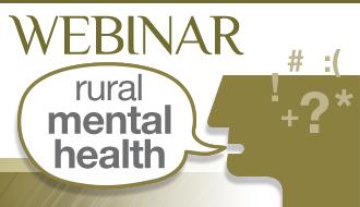 Webinar rural mental health