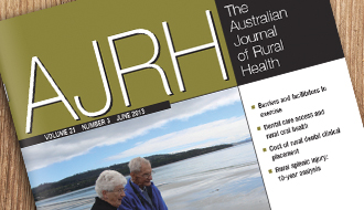 AJRH Volume 21, Issue 3, June 2013