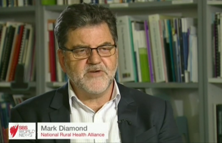 Mark Diamond screen grab from SBS video