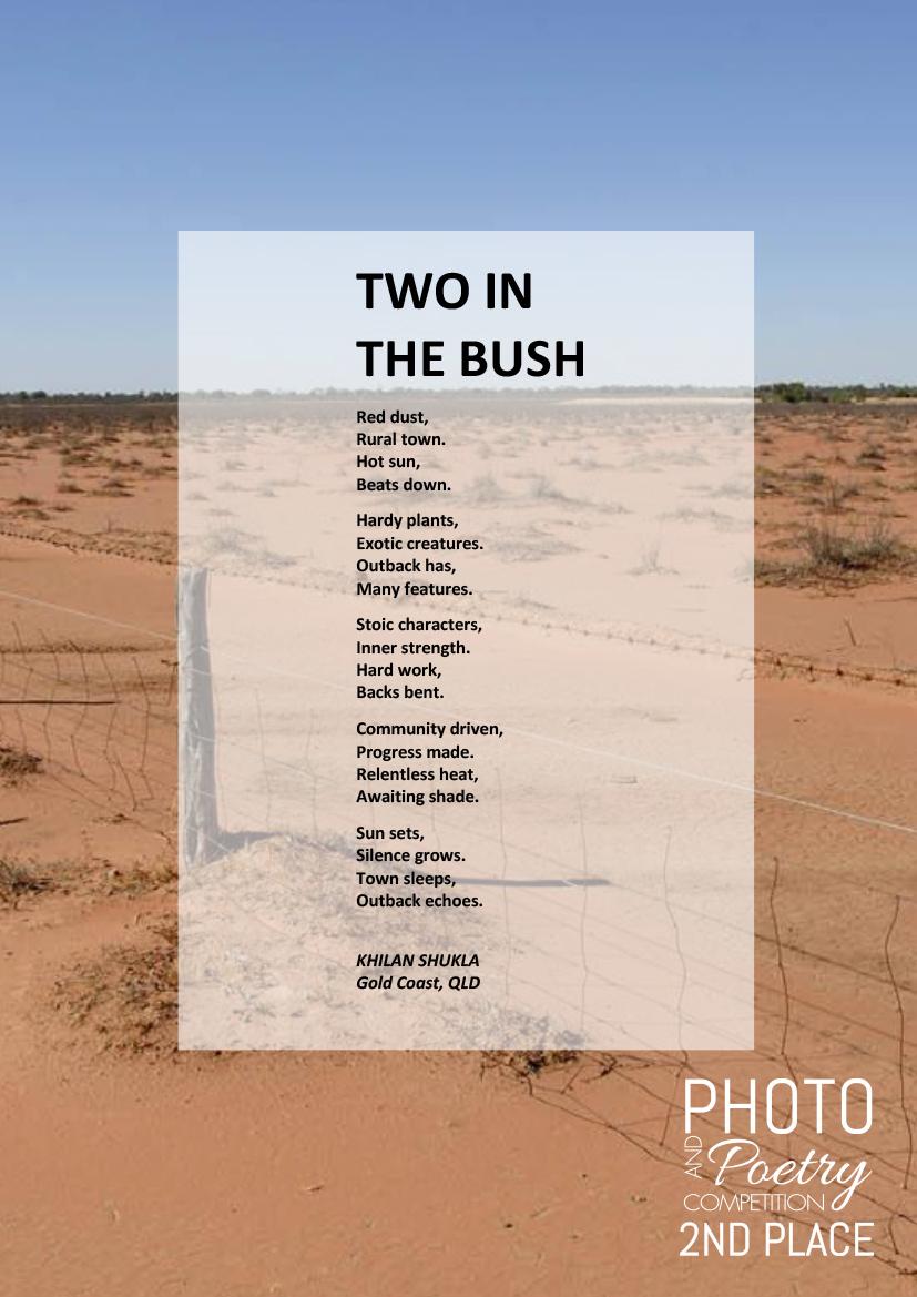 TWO IN THE BUSH - KHILAN SHUKLA, Gold Coast, QLD