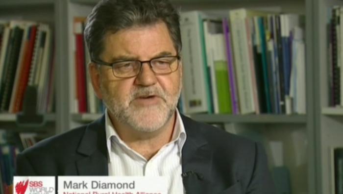 Mark Diamond screen grab from SBS video