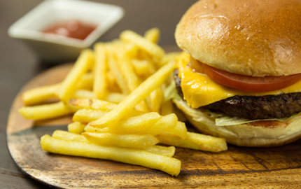 chips and burger