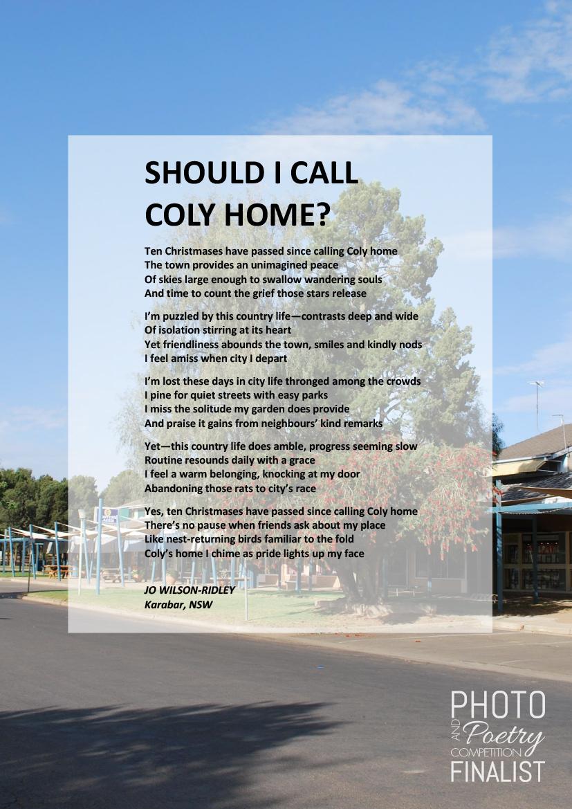 SHOULD I CALL COLY HOME? - JO WILSON-RIDLEY, Karabar, NSW