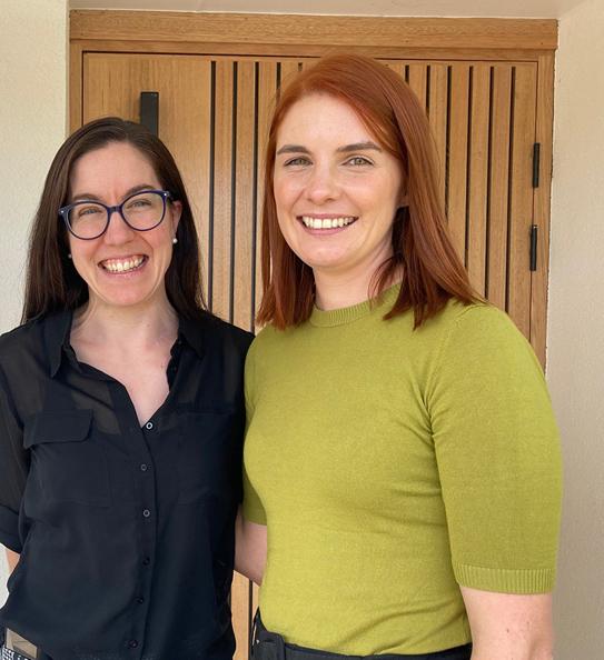 Dr Melanie Johnson (right)