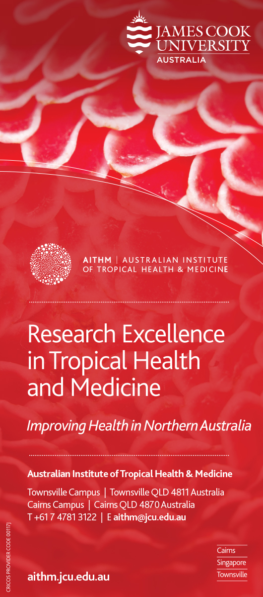 james cook university research excellence in tropical health and medicine