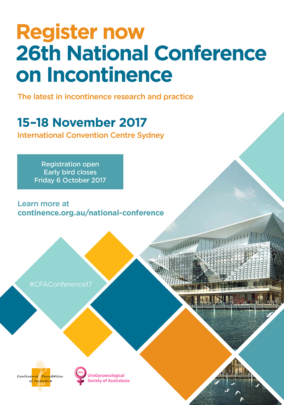 Register now 20th National Conference on Incontinence