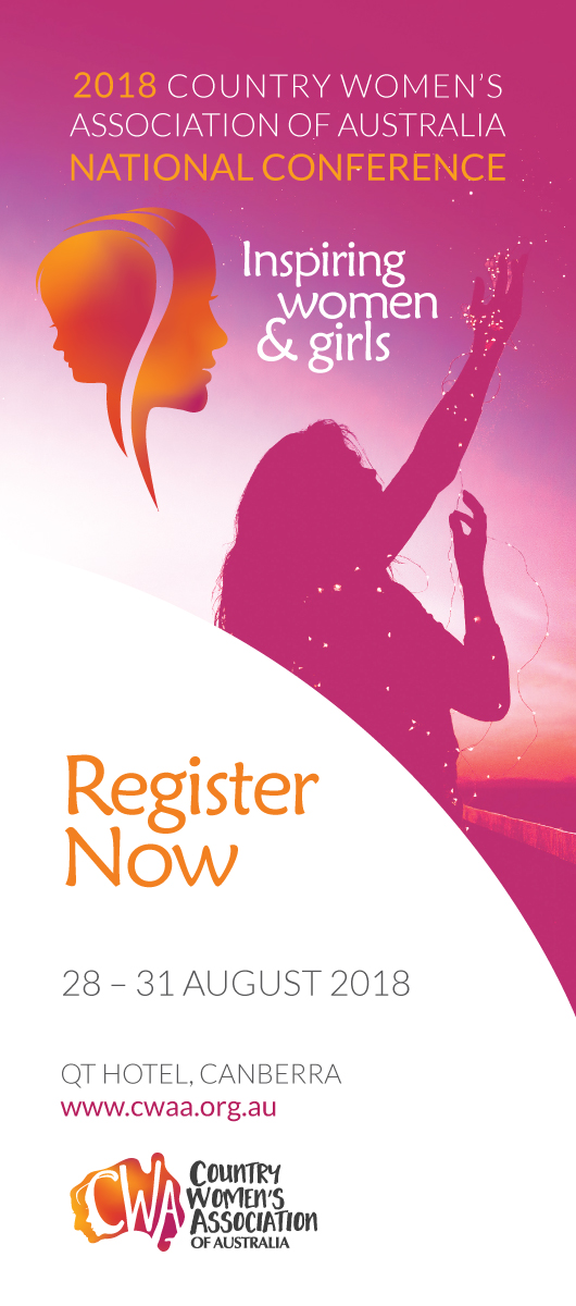 Country Women's Association of Australia Conference Ad Inspiring Women and Girls Register now