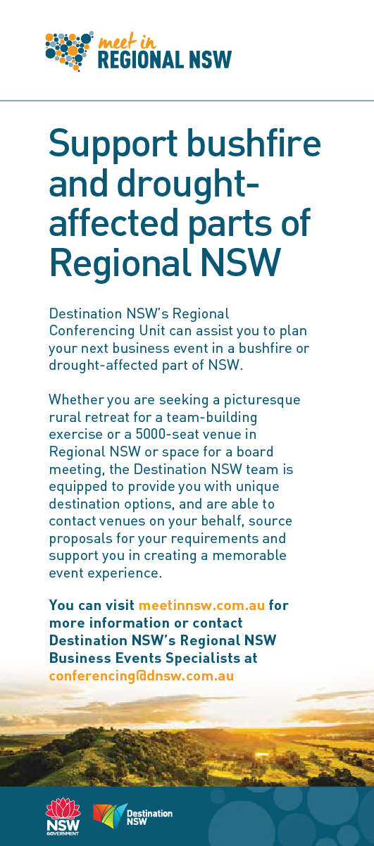 Support bushfire and drought-affected parts of Regional NSW