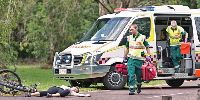 A paramedic intern in the Northern Territory