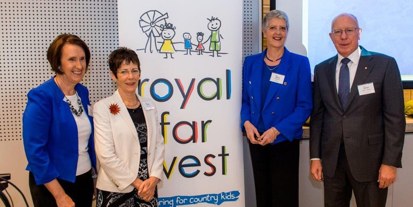 Leslie Williams MP, Mrs Hurley, Royal Far West CEO Lindsay Cane and Governor Hurley