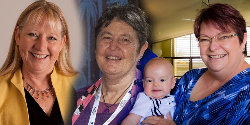 Felicity Croker, Robyn Williams, Debbie Elliott (and grandson).