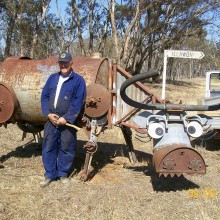 Andrew Whitehead's first sculpture mad cow which won the inaugural National Farm Art Sculpture Competition in 2007.  Photo: Andrew Whitehead